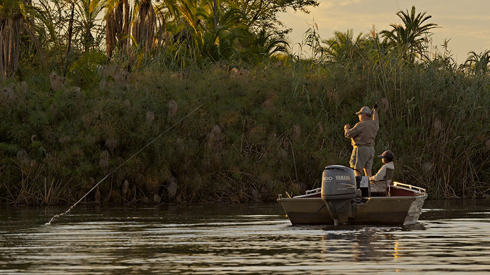 Fly Fishing at Sunset-Africa