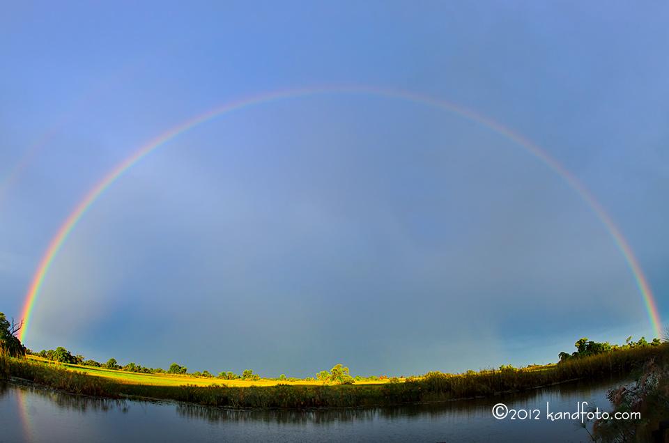 Rainbow on the Okavango River - Botswana