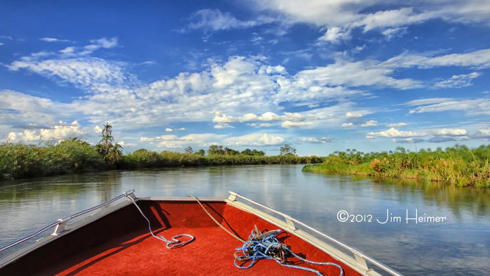 A river view of the Okavango River - Botswana